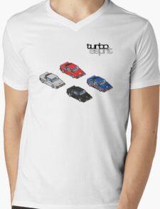 8 bit Lotus Esprit Turbo Pixel (black logo)  Mens V-Neck T-Shirt