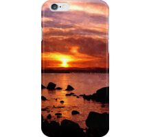 scottish sunset iPhone Case/Skin