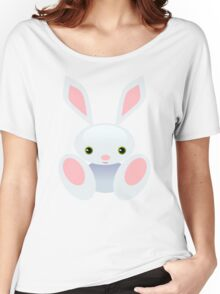 Little Blue Baby Bunny - The Wisley Women's Relaxed Fit T-Shirt