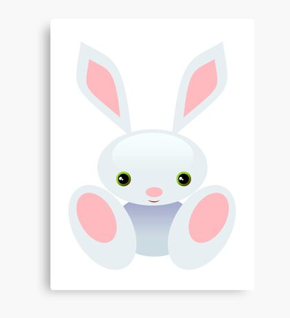 Little Blue Baby Bunny - The Wisley Canvas Print