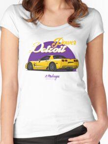 Corvette C5 (yellow) Women's Fitted Scoop T-Shirt