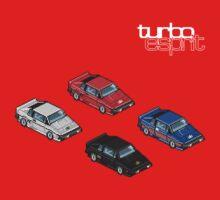 8 bit Lotus Esprit Turbo Pixel (white logo) by RichardKSavage
