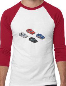 8 bit Lotus Esprit Turbo Pixel (white logo) Men's Baseball ¾ T-Shirt