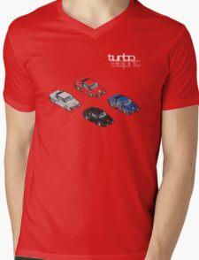 8 bit Lotus Esprit Turbo Pixel (white logo) Mens V-Neck T-Shirt