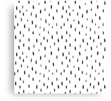 black brush print pattern, hand-drawn Canvas Print