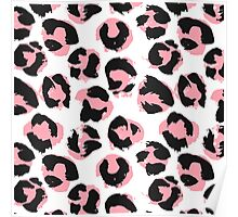 Pink leopard Poster