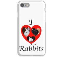 I love Rabbits iPhone Case/Skin