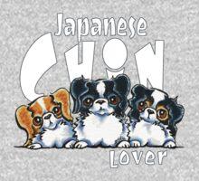 Japanese Chin Lover (Dark) by offleashart