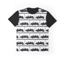 Vintage Sports Car Repeating Pattern Graphic T-Shirt