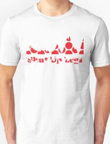 Shut Up Legs Red Polka Dot Mountain Profile Unisex T-Shirt