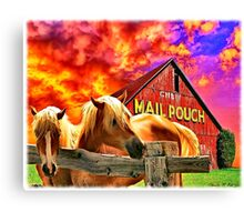 """""""Mail Pouch Horses"""" Canvas Print"""