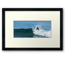 Surfing Bells Beach Framed Print