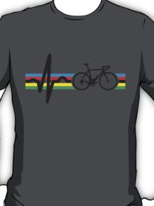 Bike Stripes World Road Race Champion (Heartbeat) T-Shirt