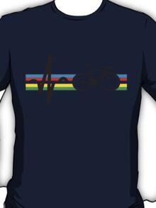 Bike Stripes World Road Race Champion (Heartbeat) T-Shirt