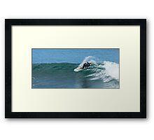 Cut Back at Bells Beach Framed Print