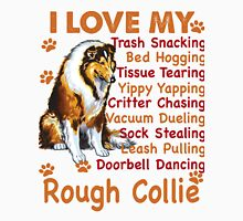 I love my Rough Collie - Rough Collie Shirt - Rough Collie Mom Shirt - Rough Collie Love Womens Fitted T-Shirt