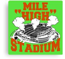 Mile High Stadium Canvas Print