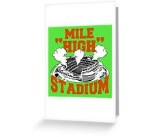 Mile High Stadium Greeting Card