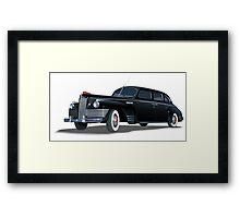 Retro limousine Framed Print
