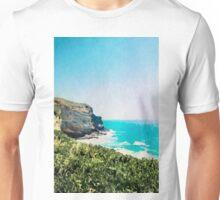 Dunedin coast in watercolor, New Zealand Unisex T-Shirt