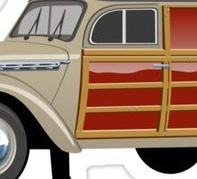 Retro woody van Sticker