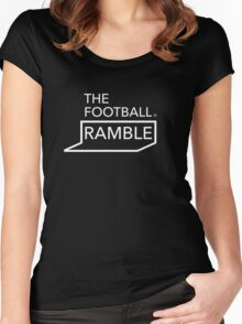 Ramble logo white Women's Fitted Scoop T-Shirt