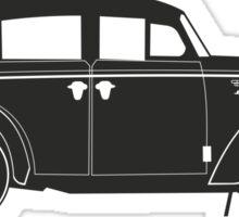 Retro car silhouette Sticker
