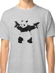 Panda Holding Machine Guns Classic T-Shirt