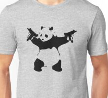 Panda Holding Machine Guns Unisex T-Shirt