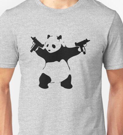Panda Holding Machine Guns Unisex T-Shirt