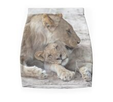 Etosha National Park Namibia Lion (Panthera leo) and cub. Mini Skirt
