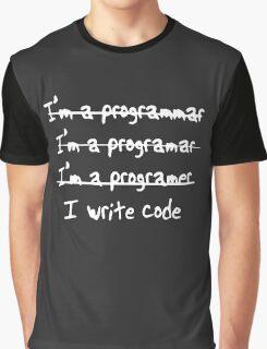 Programmer - I Write Code Graphic T-Shirt