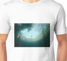 Autumn colours from below the water Unisex T-Shirt