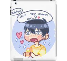 Marry me, water. iPad Case/Skin