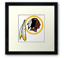 Redskins logo Framed Print