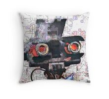 Johnny 5 Fried Throw Pillow