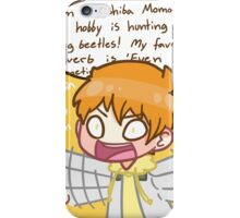 Momo, zip it. iPhone Case/Skin