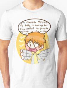 Momo, zip it. Unisex T-Shirt