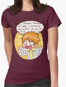 Momo, zip it. Womens Fitted T-Shirt