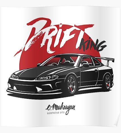 Nissan Silvia S15 (black) Poster