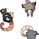 Mini Opossums by Clair C