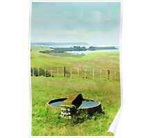 Bay of Island, New Zealand in Watercolor Poster