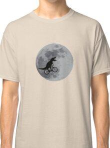 Tyrannosaurus rex bicycle moon Classic T-Shirt