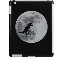 Tyrannosaurus rex bicycle moon iPad Case/Skin