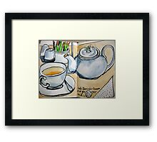lemon and ginger at denada Framed Print