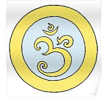 Ohm - blue and gold Poster