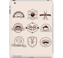 Barbershop Badges Set in Vintage Style iPad Case/Skin