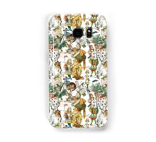 Vintage Alice in Wonderland Repeating Pattern Samsung Galaxy Case/Skin