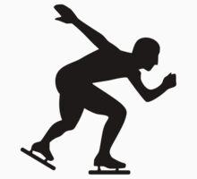 Speed skating skater Kids Tee