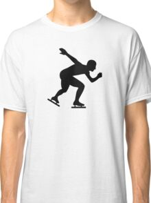Speed skating skater Classic T-Shirt